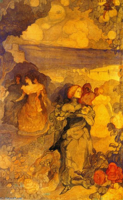 famous painting Homage a Villon of Charles Edward Conder