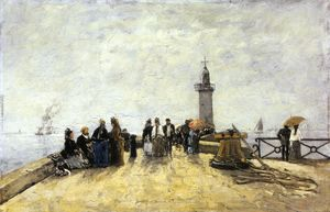 Eugène Louis Boudin - Honfleur, the Jetty