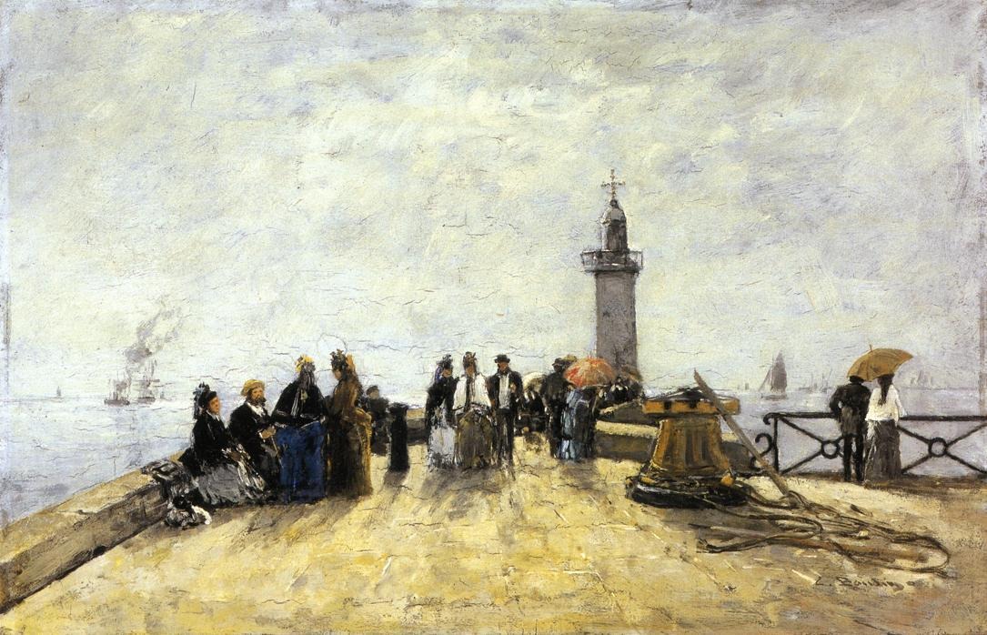 famous painting Honfleur, the Jetty of Eugène Louis Boudin