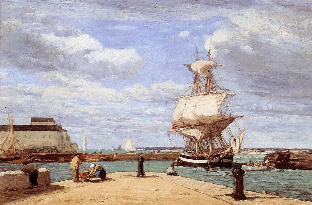 famous painting Honfleur, the Port of Eugène Louis Boudin