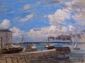 Eugène Louis Boudin - Honfleur, the Port Entrance