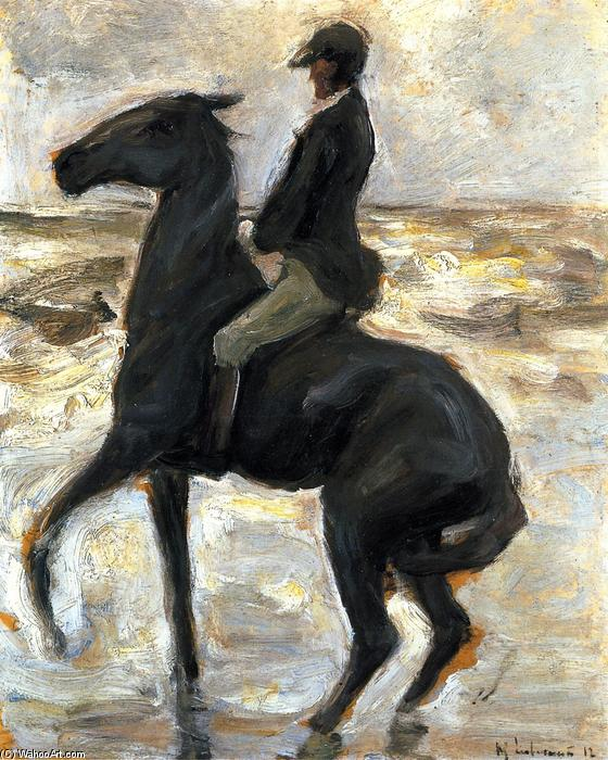 famous painting Horseback Rider on the Beach, Facing Left of Max Liebermann