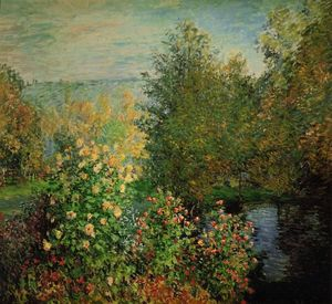 Claude Monet - The Hoschedes' Garden at Montgeron