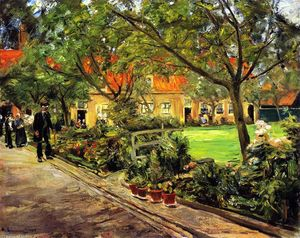 Max Liebermann - Hospital Garden in Edam
