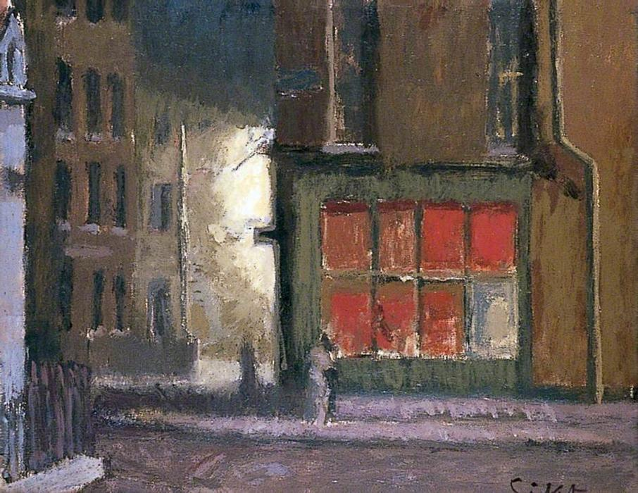famous painting Hotel de Commerce, Dieppe, France of Walter Richard Sickert