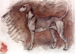 Robert Bevan - Hound at Attention