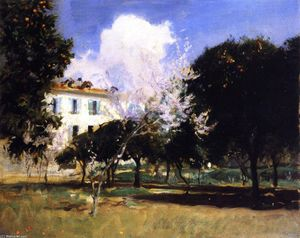 John Singer Sargent - House and Garden, Nice (also known as Almond Blossoms)