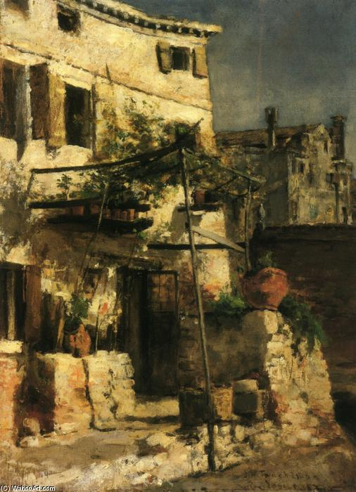 famous painting House on a Canal, Venice of John Henry Twachtman