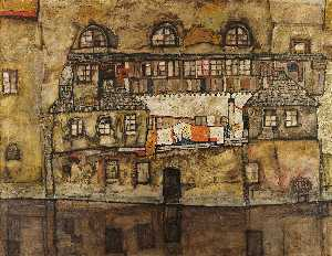 Egon Schiele - House on a River (also known as Old House I)