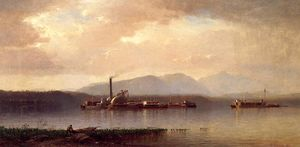 Samuel Colman - The Hudson Highlands (also known as Hudson river Two and Barge)