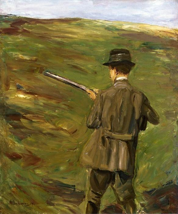 famous painting A Hunter in the Dunes of Max Liebermann