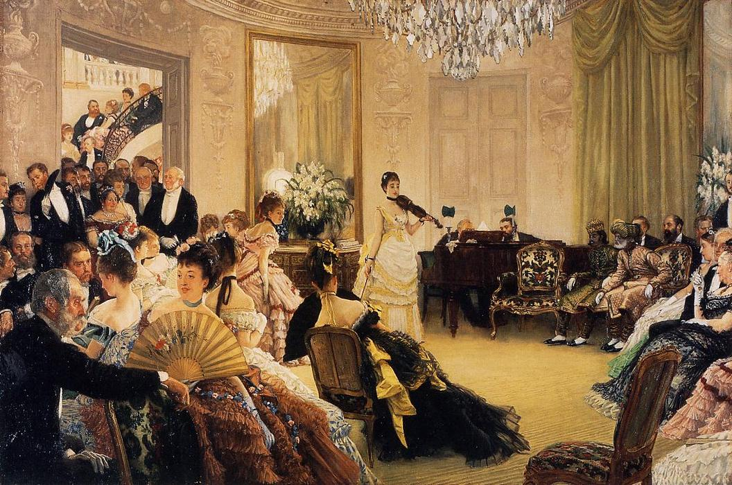 famous painting Hush! (also known as The Concert) of James Jacques Joseph Tissot