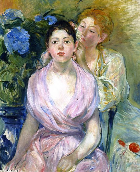 famous painting The Hydrangea of Berthe Morisot