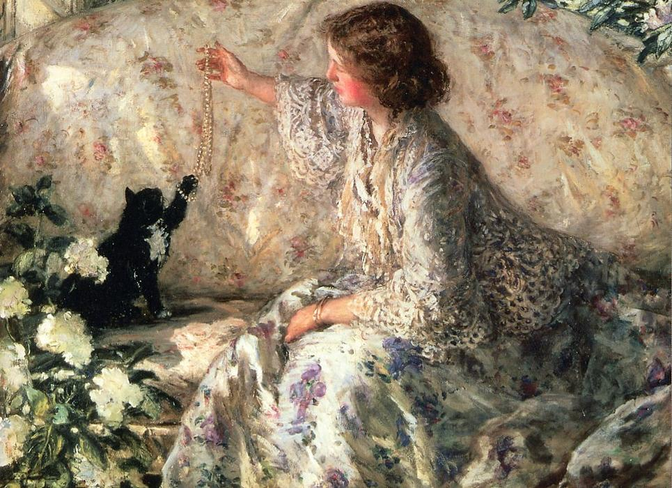 famous painting Hydrangeas of Philip Wilson Steer