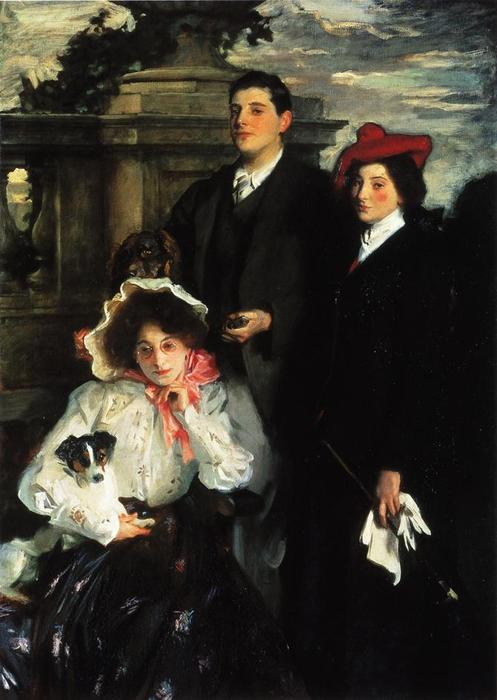famous painting Hylda, Almina and Conway, Children of Asher Wertheimer of John Singer Sargent