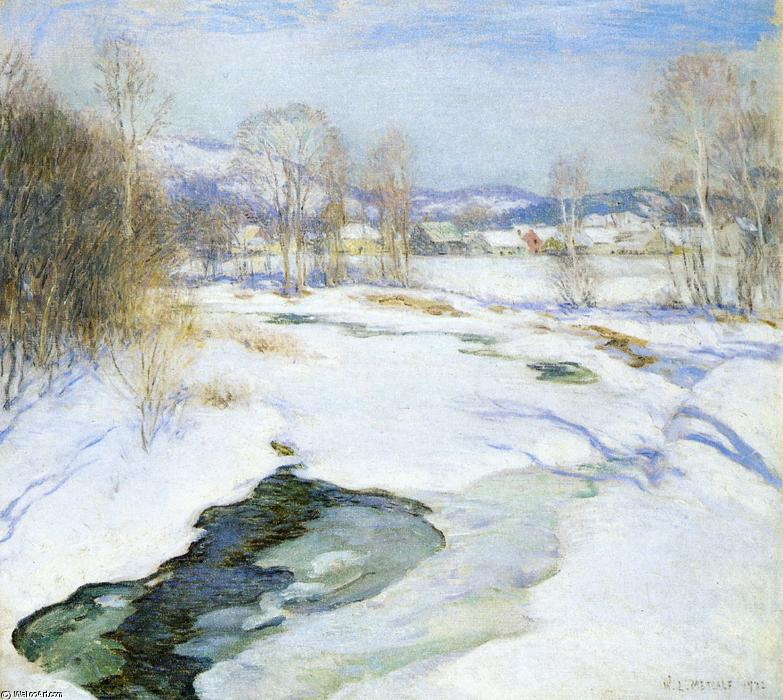 famous painting Icebound Brook (also known as Winter's Mantle) of Willard Leroy Metcalf
