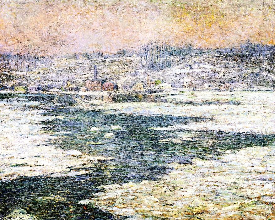 famous painting Ice on the Hudson of Ernest Lawson
