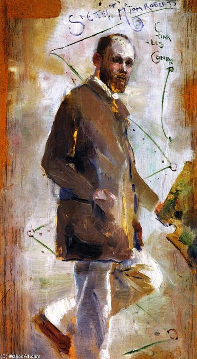 famous painting An Impressionist (Tom Roberts) of Charles Edward Conder