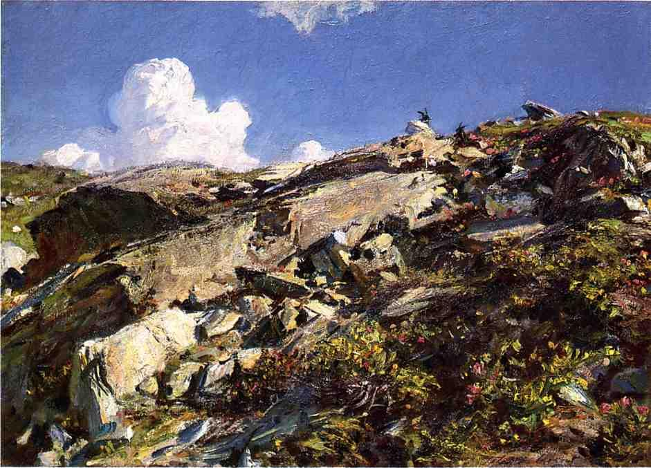 famous painting In the Alps of John Singer Sargent
