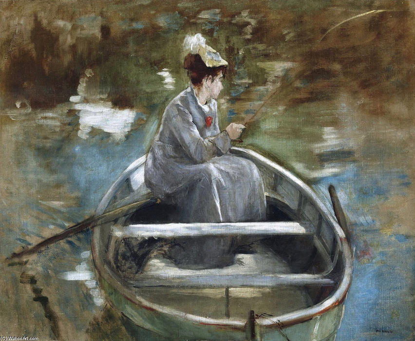 famous painting In The Boat of Eva Gonzales