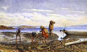 William George Richardson Hind - Indians Gathering Shellfish, Victoria Island