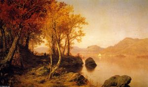 Louis Remy Mignot - Indian Summer, Lake George