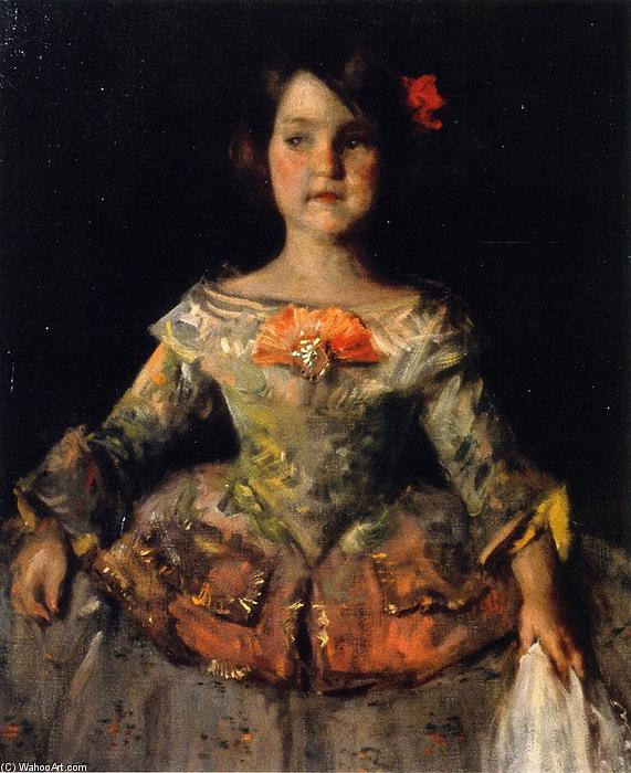 famous painting The Infanta (also known as My LIttle Daughter Helen Velazque Posing as an Infanta) of William Merritt Chase