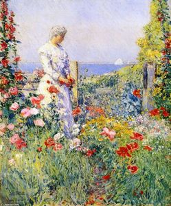 Frederick Childe Hassam - In the Garden (also known as Celia Thaxter in Her Garden)