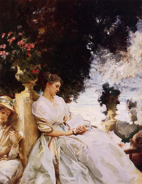 famous painting In the Garden, Corfu of John Singer Sargent