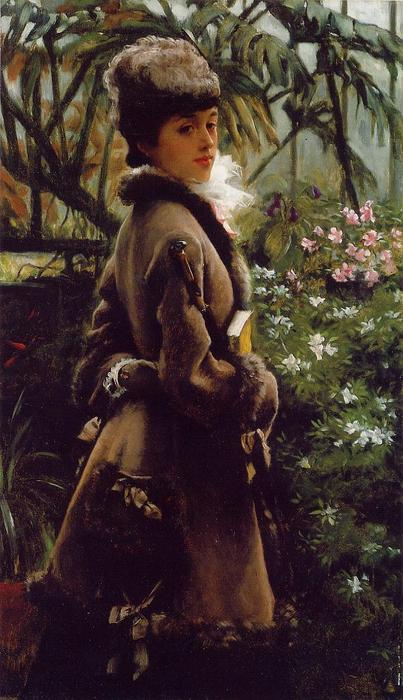 famous painting In the greenhouse of James Jacques Joseph Tissot