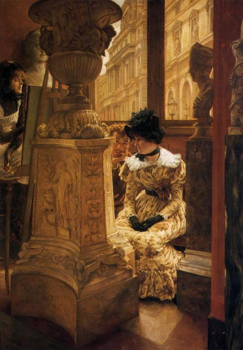 famous painting In The Louvre of James Jacques Joseph Tissot