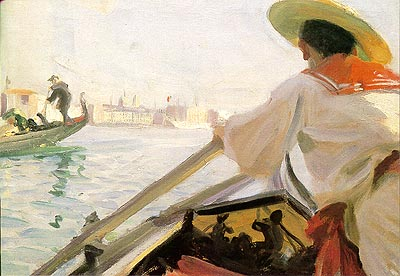 famous painting In my Gondola of Anders Leonard Zorn