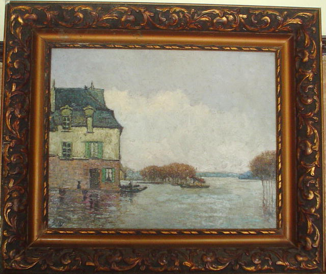 famous painting Inodation, Flood (Forgery?) of Alfred Sisley