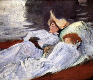 John Singer Sargent - In a Punt (Violet Sargent and Madame Paul Helleu) (also known as Two Woman in a Punt)