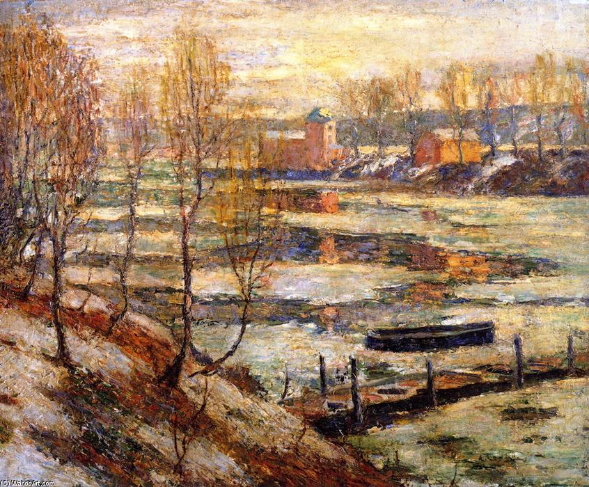 famous painting In the River of Ernest Lawson