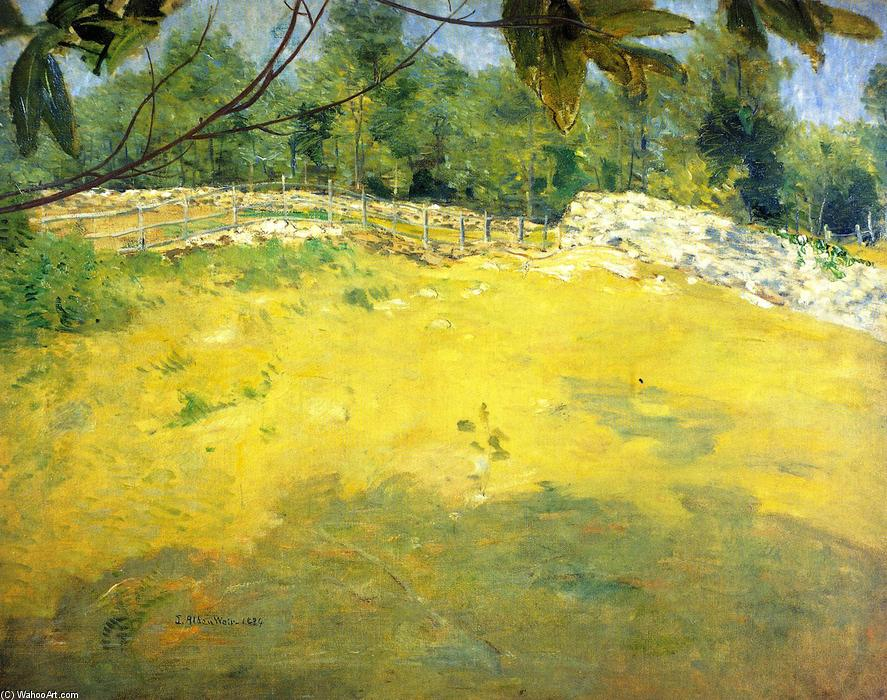 famous painting In the Shade of a Tree (also known as Sunlight, Connecticut) of Julian Alden Weir