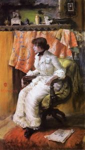 William Merritt Chase - In the Studio (also known as Virginia Gerson)