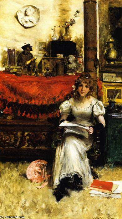 famous painting In the Studio of William Merritt Chase