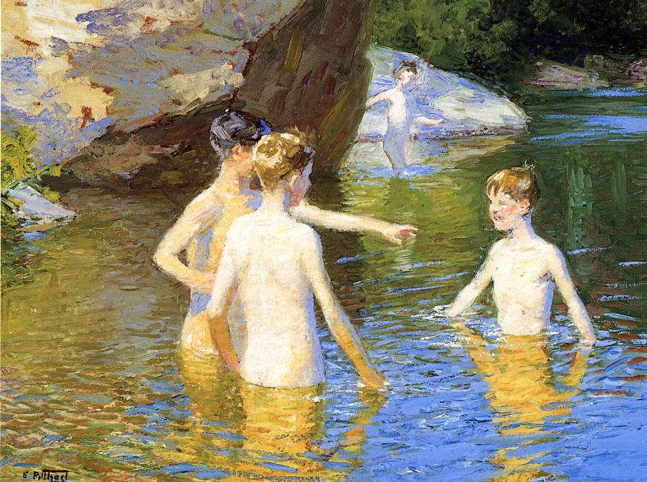 famous painting In the Summertime of Edward Henry Potthast