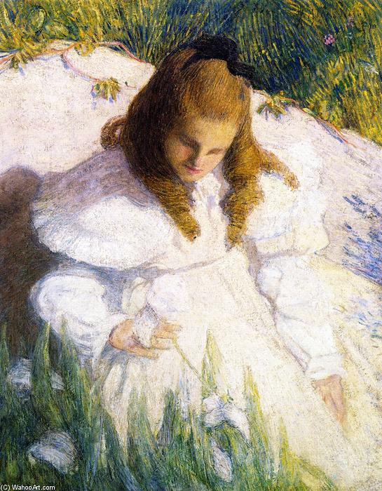 famous painting In the Sun of Julian Alden Weir