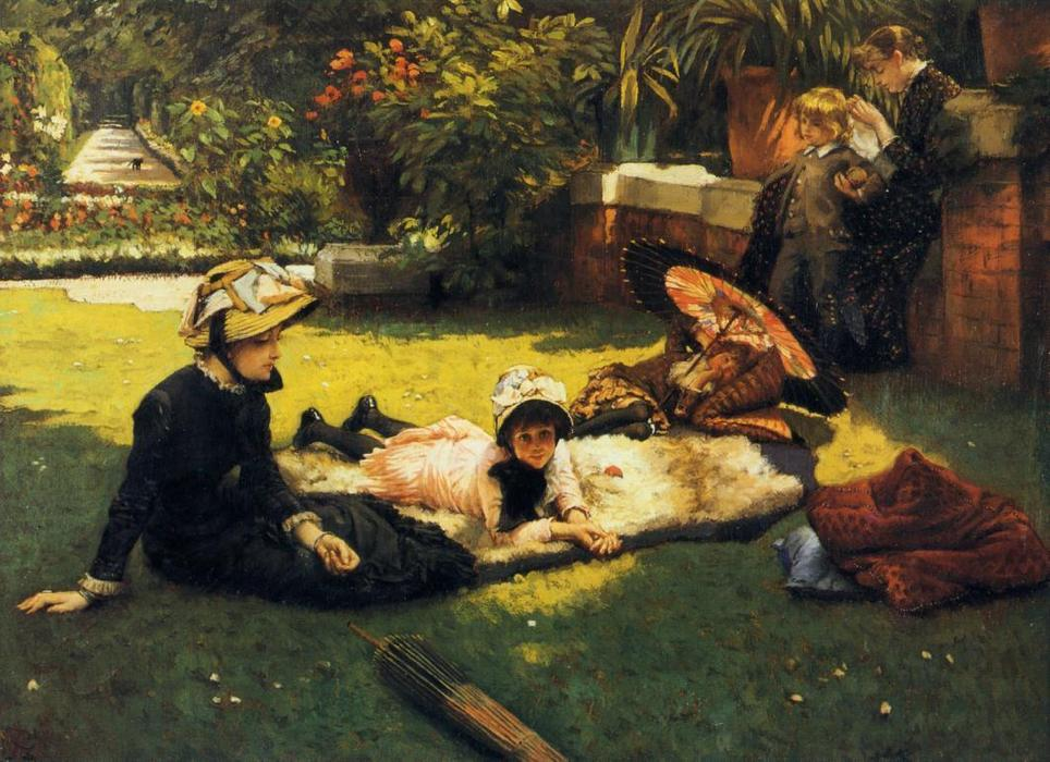 famous painting In the Sunshine of James Jacques Joseph Tissot