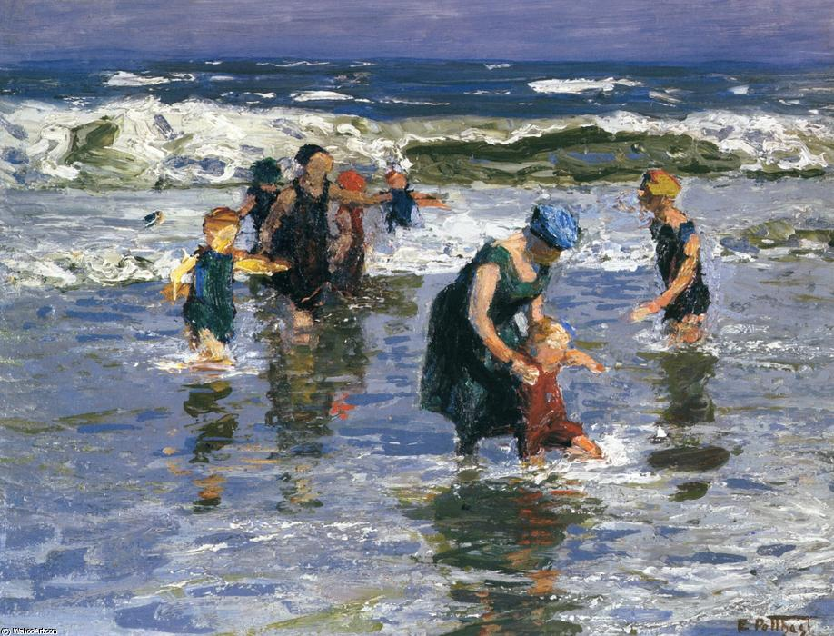 famous painting In the Surf of Edward Henry Potthast