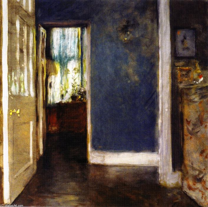 famous painting An Interior (also known as The Green Window Curtain) of William Merritt Chase