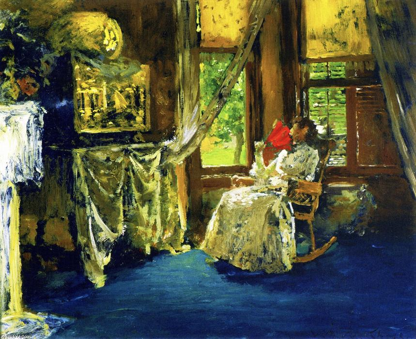 famous painting Interior of William Merritt Chase