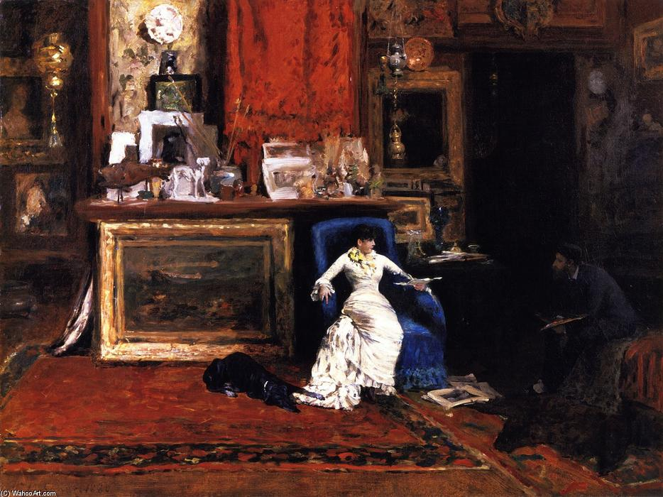 famous painting Interior of the Artist's Studio (also known as The Tenth Street Studio) of William Merritt Chase