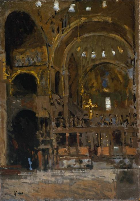 famous painting Interior of St Mark's, Venice of Walter Richard Sickert