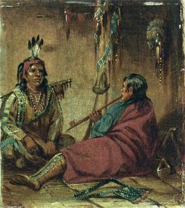 John Mix Stanley - Interior of Wigwam