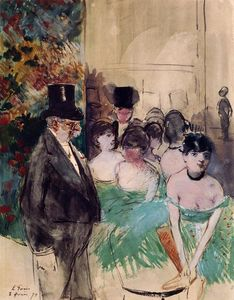 Jean Louis Forain - Intermission on Stage