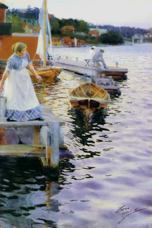 famous painting In the Twilight of Anders Leonard Zorn