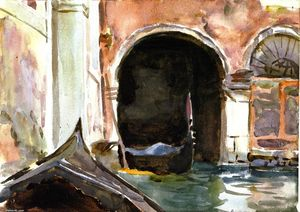 John Singer Sargent - In Venice (also known as Rio dell'Angelo)